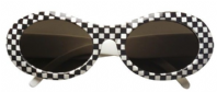60's Chequered Glasses (6863)